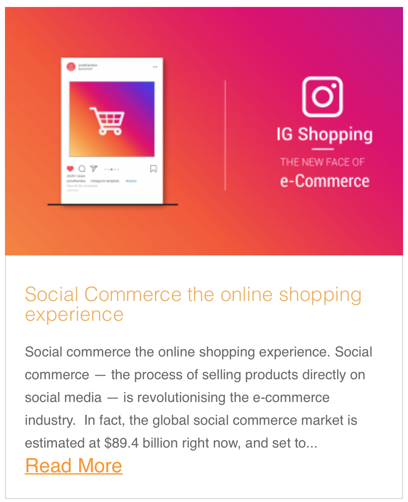 Social Commerce the online shopping experience