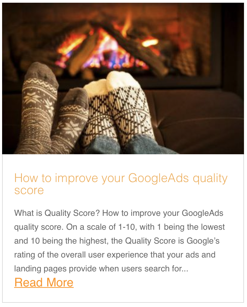 How to improve your GoogleAds quality score.