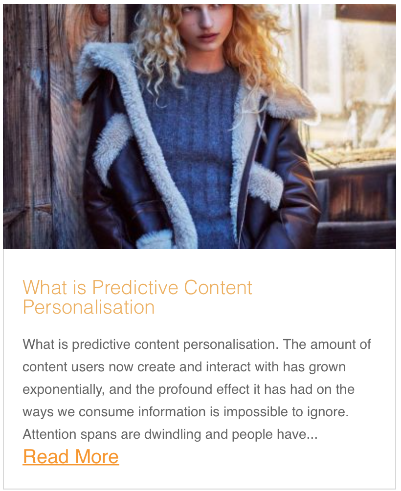 What is Predictive Content Personalisation