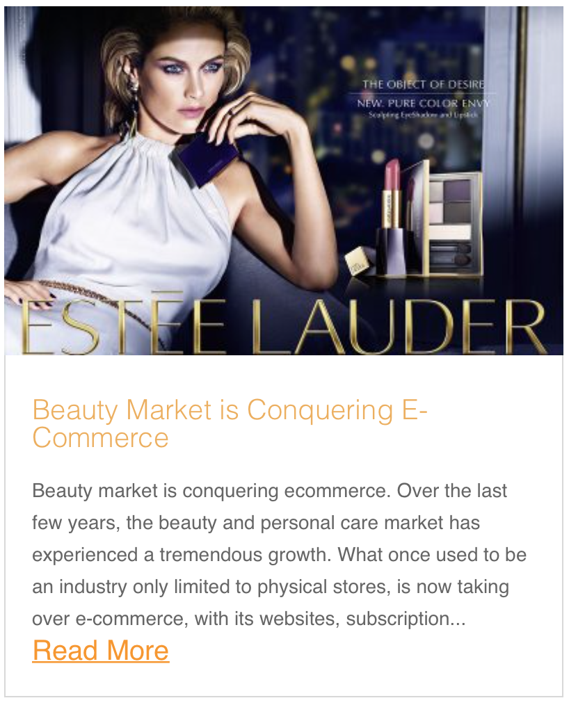 Beauty Market is Conquering E-Commerce