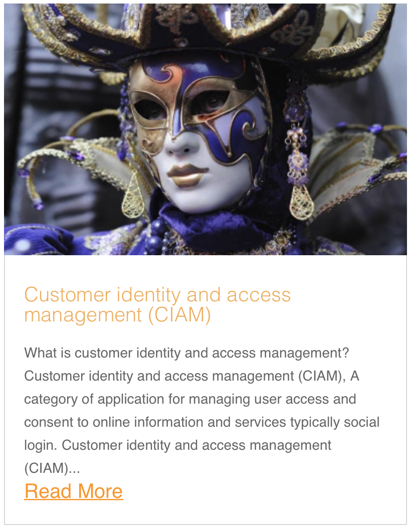 Customer identity and access management (CIAM)