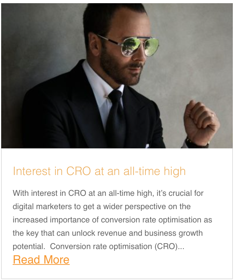 Interest in CRO at an all-time high