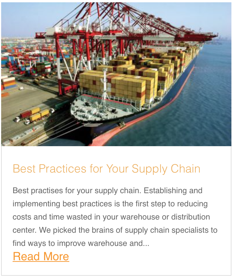 Best Practices for Your Supply Chain