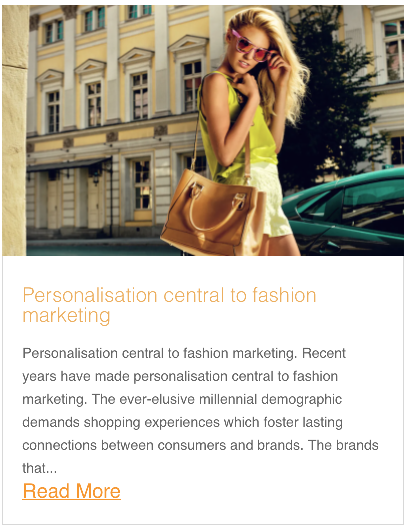 Personalisation central to fashion marketing