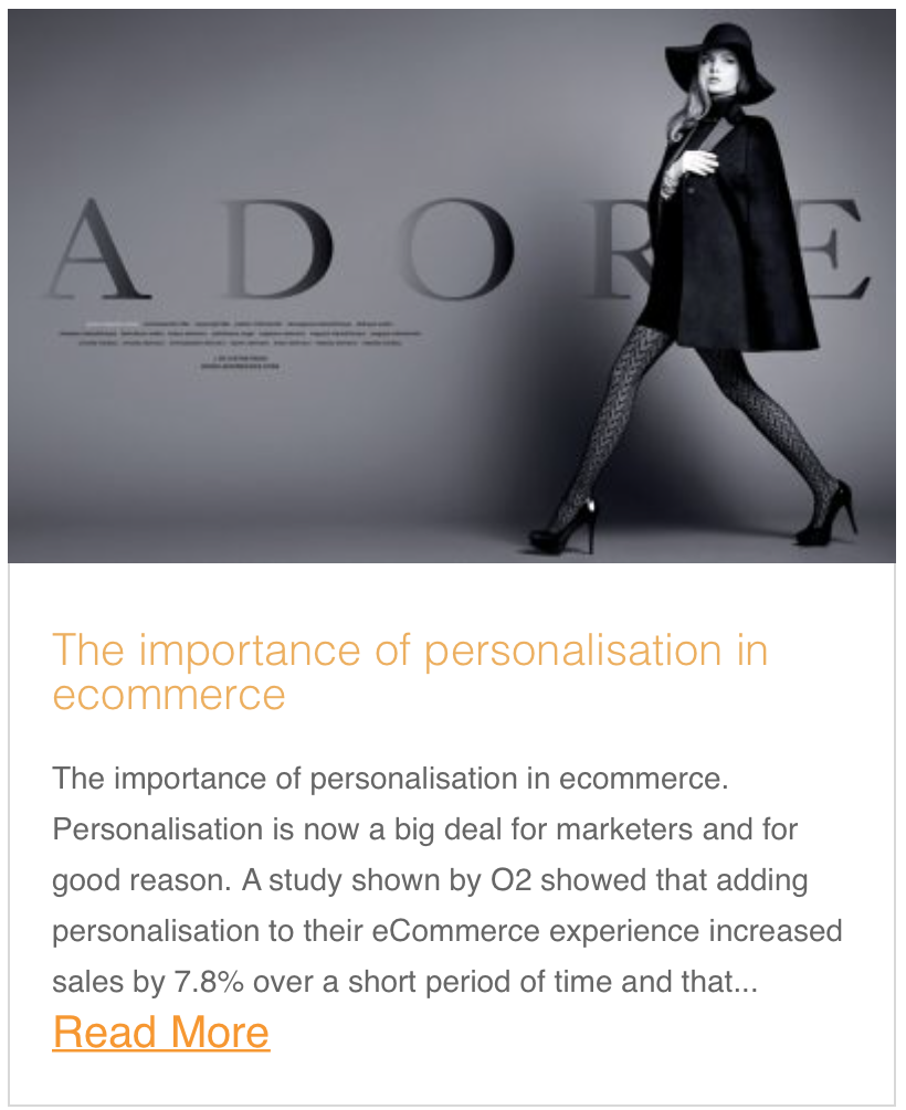 The importance of personalisation in ecommerce