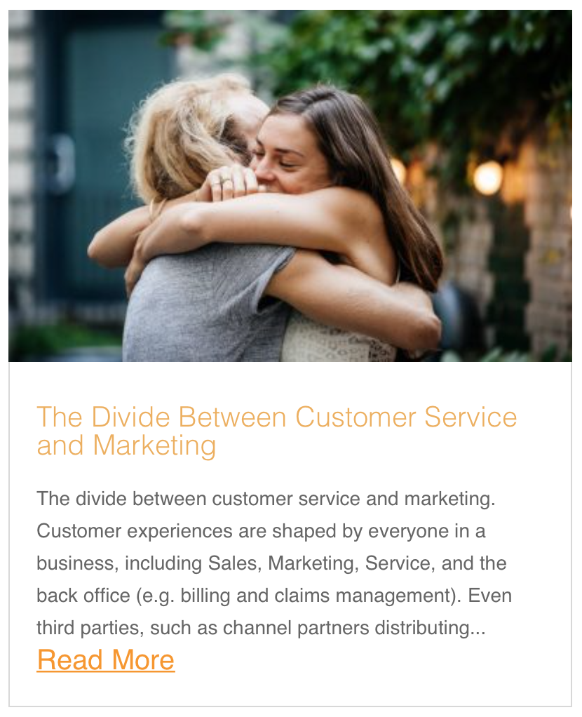 The Divide Between Customer Service and Marketing