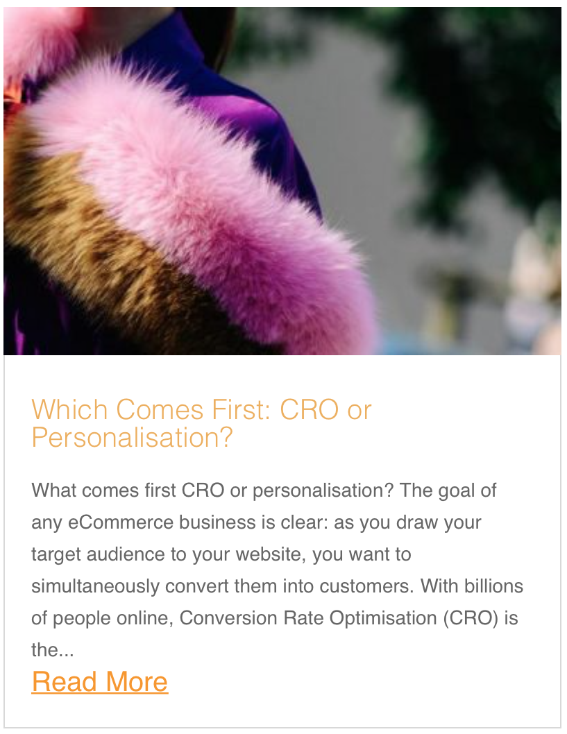 Which Comes First CRO or Personalisation