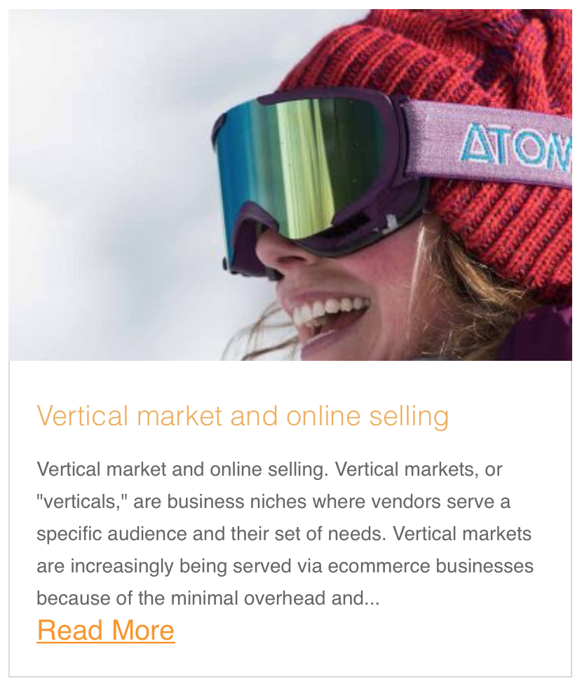 Vertical market and online selling