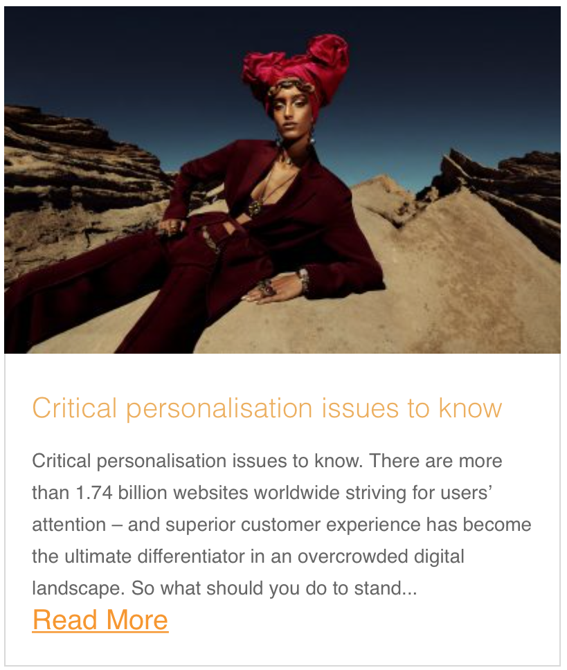 Critical personalisation issues to know