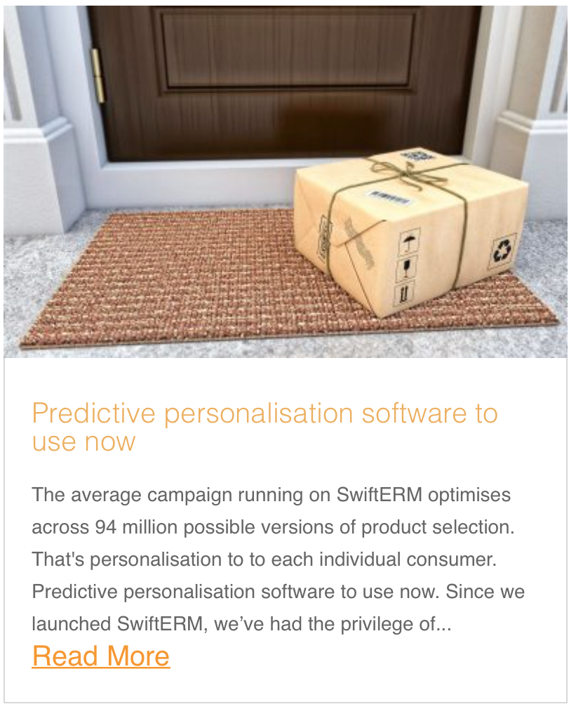 Predictive personalisation software to use now