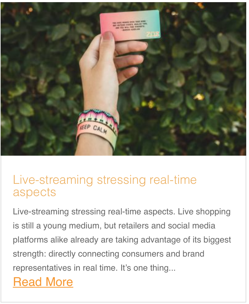 Live-streaming stressing real-time aspects