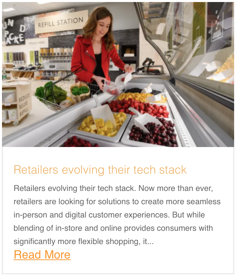 Retailers evolving their tech stack
