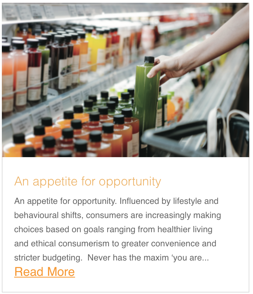 An appetite for opportunity