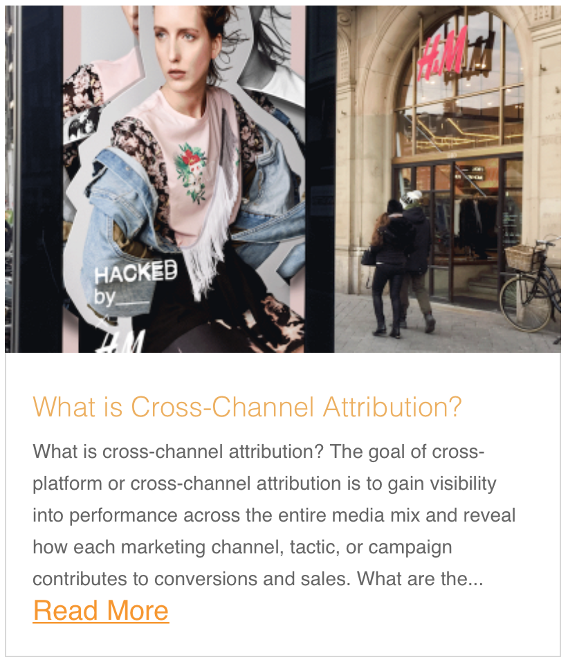 What is cross-channel attribution?