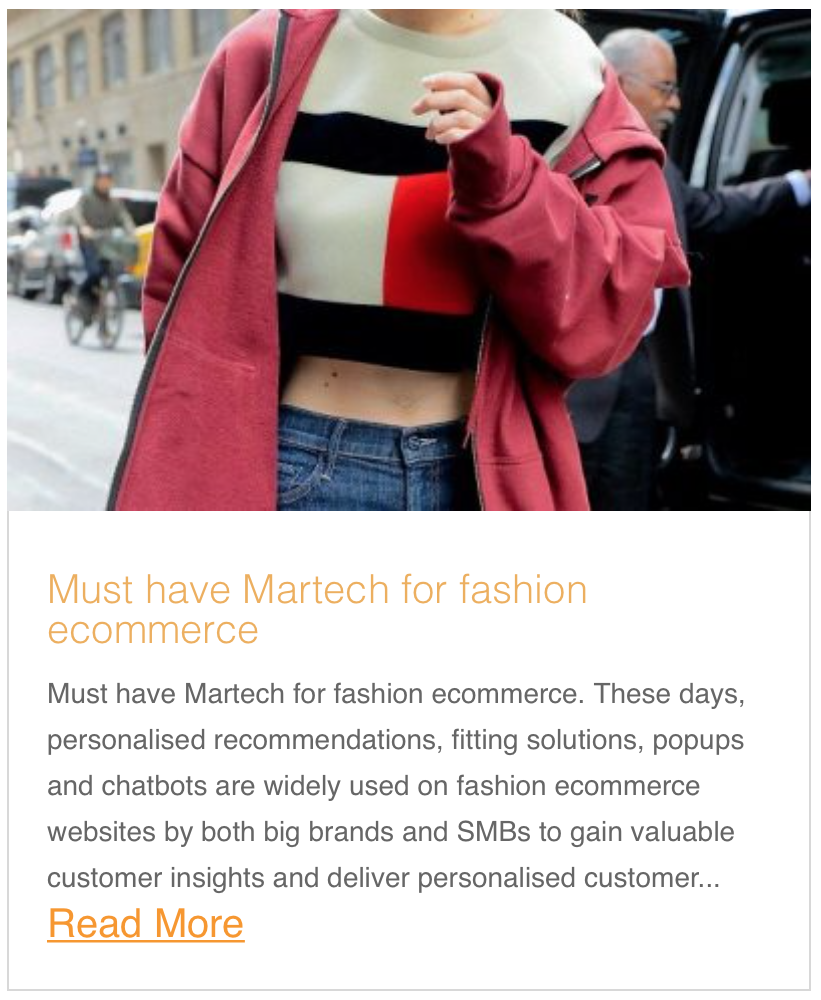 Must have Martech for fashion ecommerce