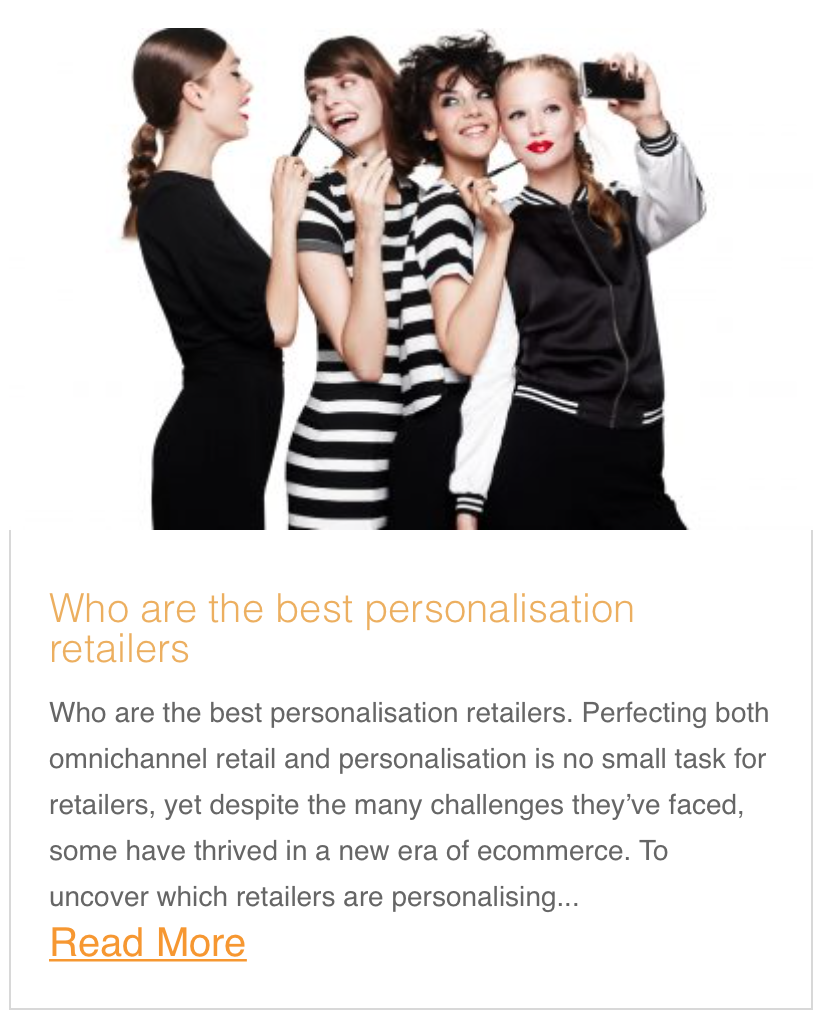 Who are the best personalisation retailers
