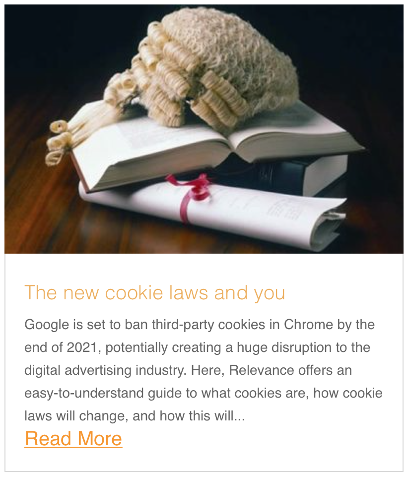 The new cookie laws and you