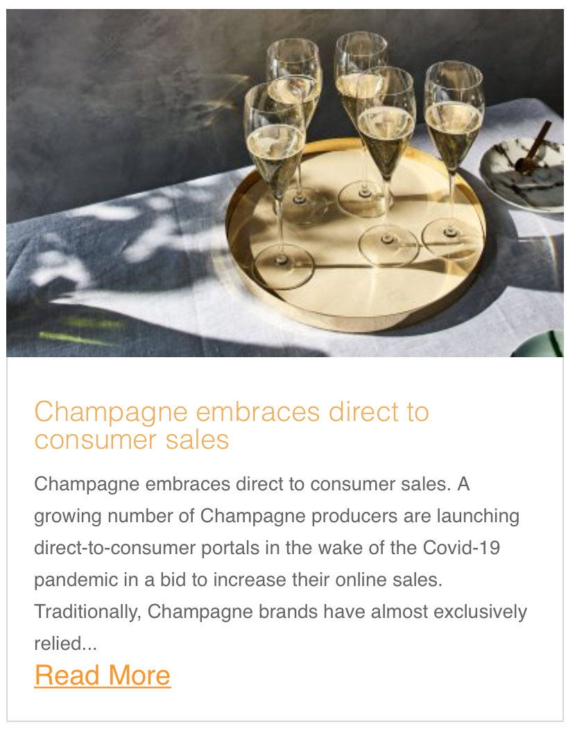 Champagne embraces direct to consumer sales