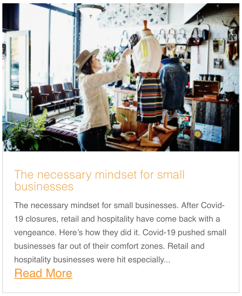 The necessary mindset for small businesses