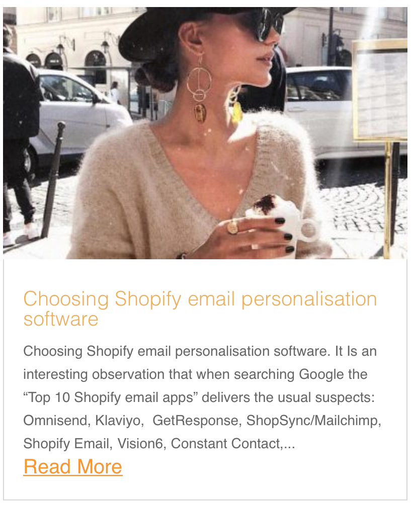 Choosing Shopify email personalisation software