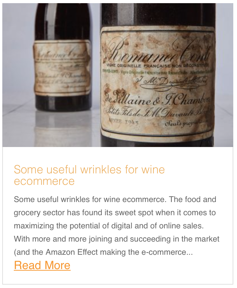 Some useful wrinkles for wine ecommerce