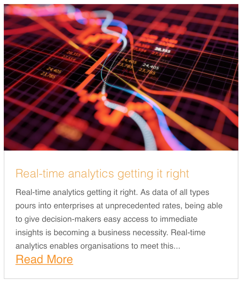 Real-time analytics getting it right