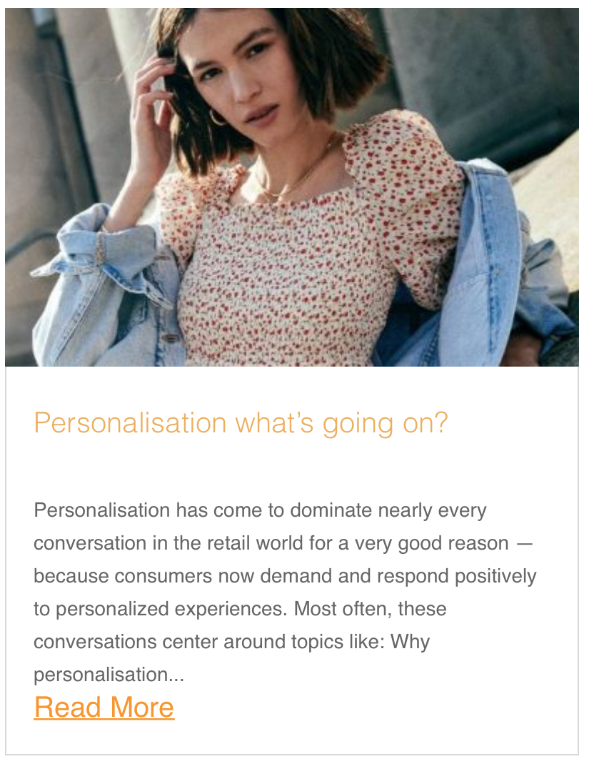 Personalisation what's going on?