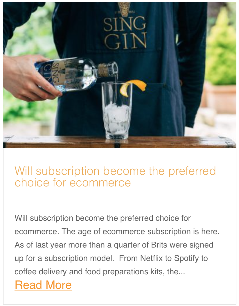 Will subscription become the preferred choice for ecommerce