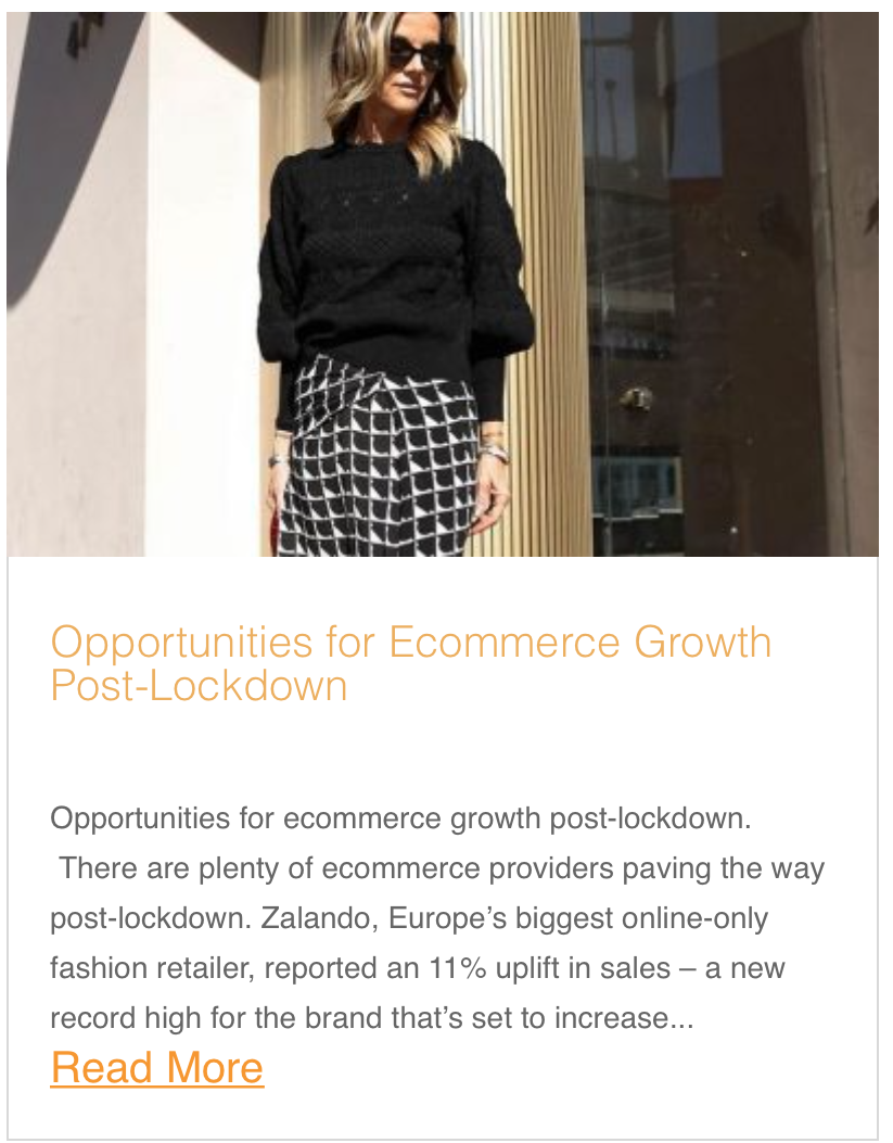 Opportunities for ecommerce growth post-lockdown