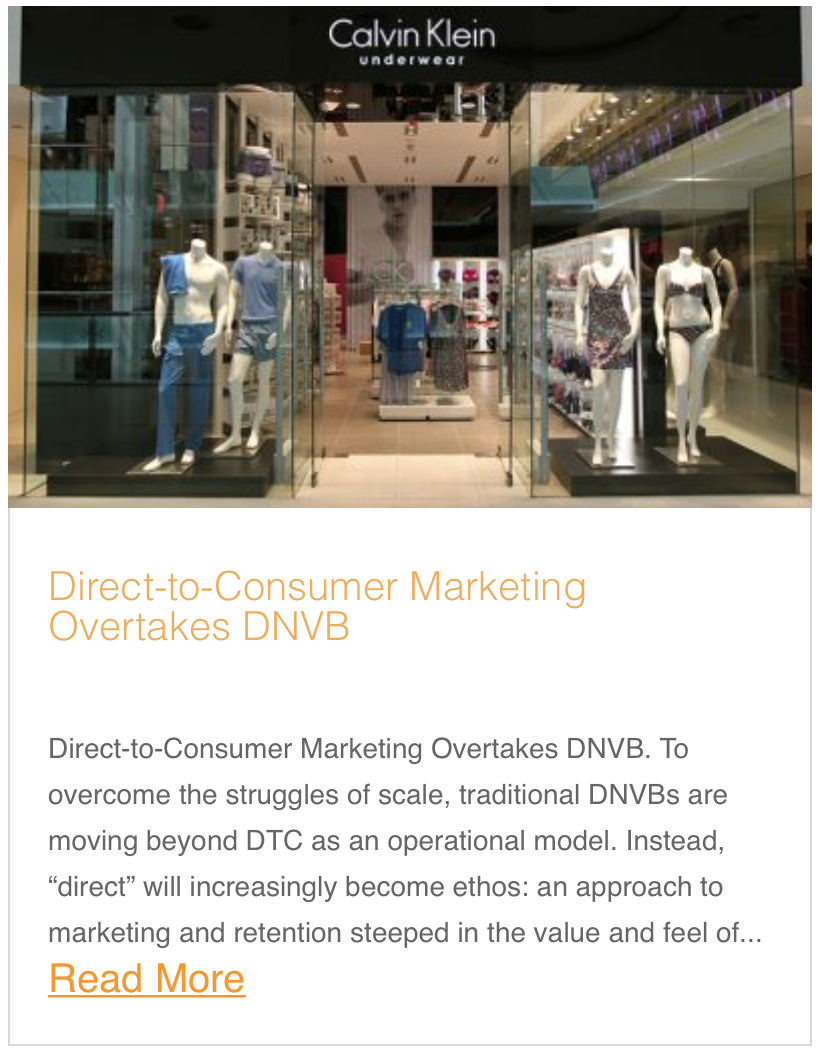Direct-to-Consumer Marketing Overtakes DNVB