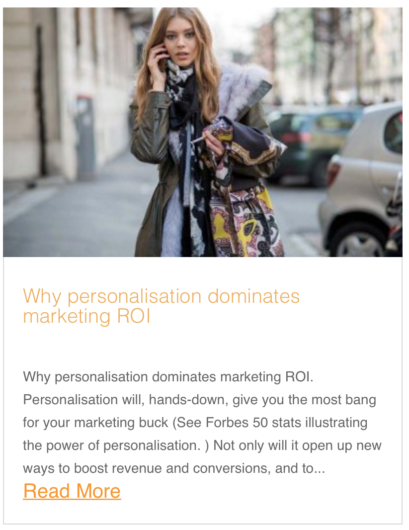 Why personalisation dominates marketing ROI