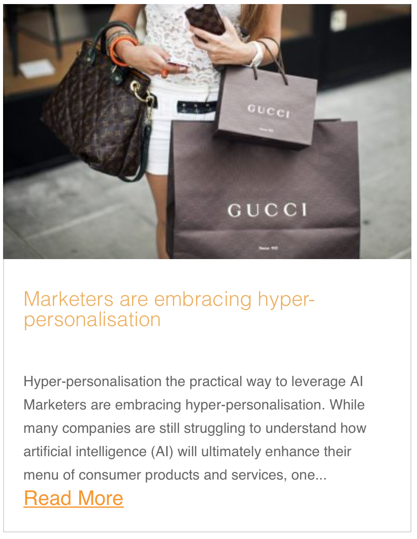 Marketers are embracing hyper-personalisation