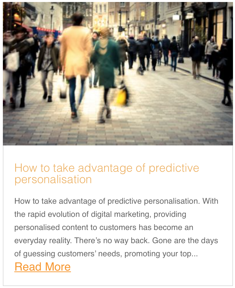 How to take advantage of predictive personalisation