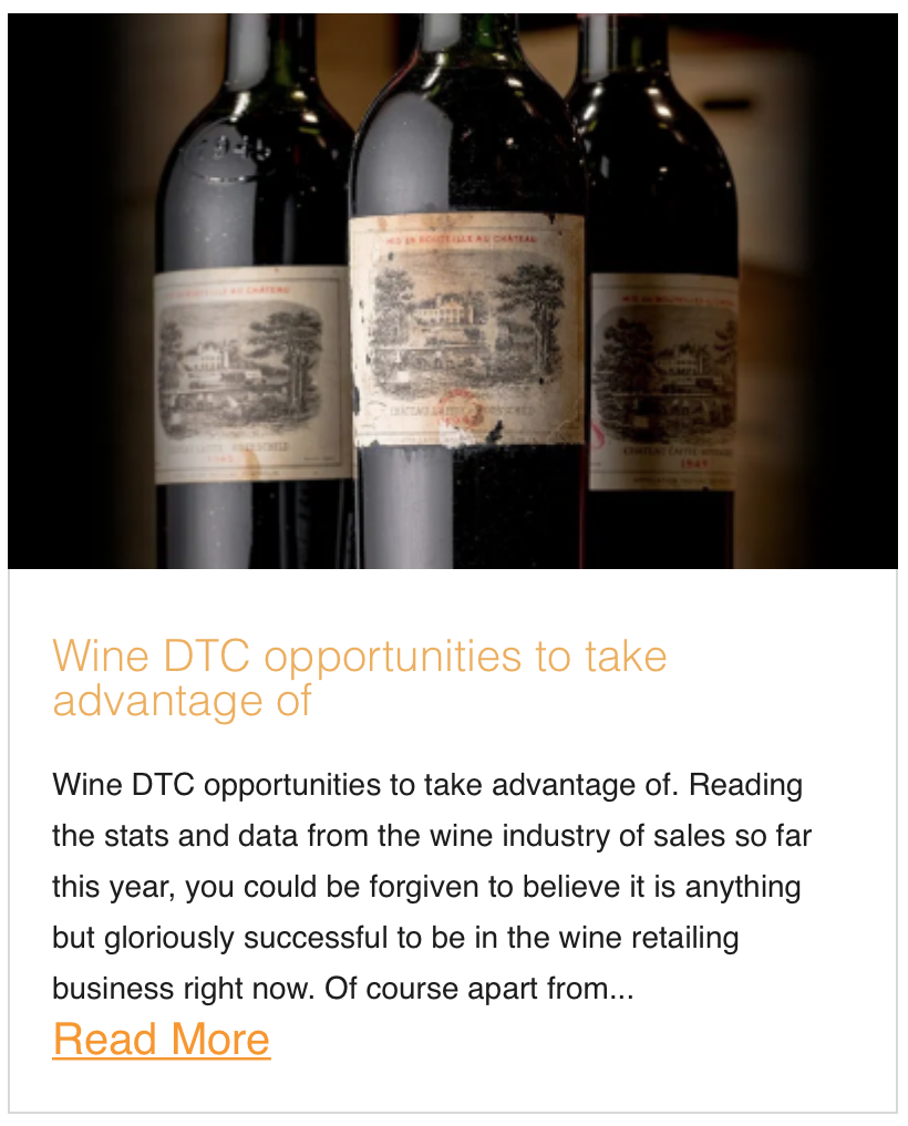 Wine DTC opportunities to take advantage of