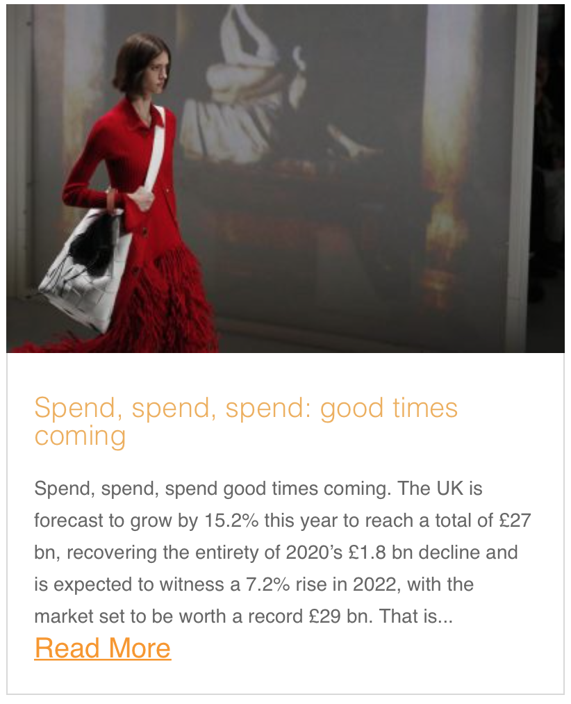 Spend, spend, spend: good times coming