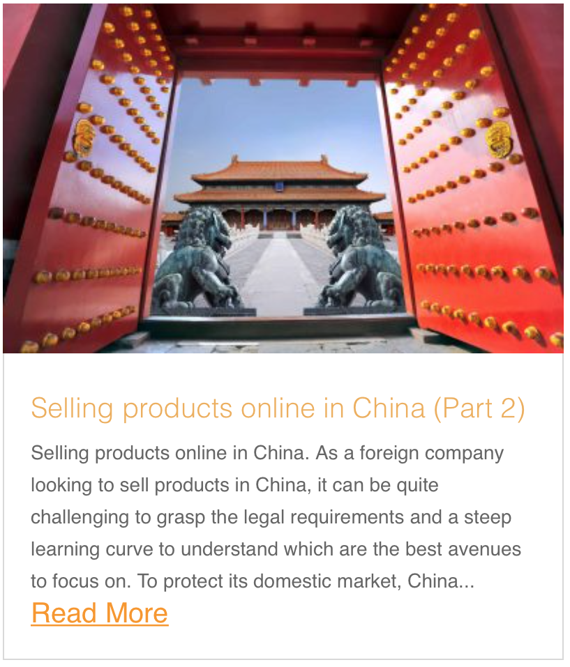 Selling products online in China (Part 2)