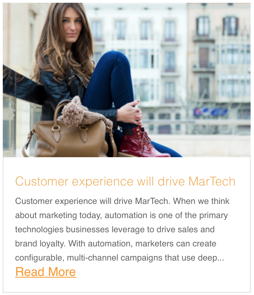 Customer experience will drive MarTech