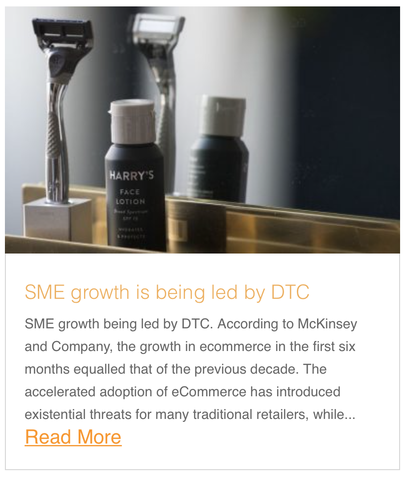 SME growth is being led by DTC