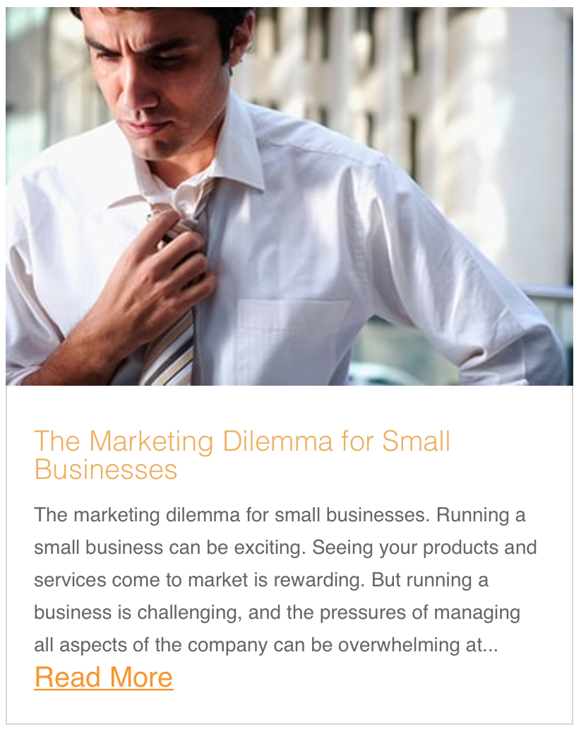 The Marketing Dilemma for Small Businesses