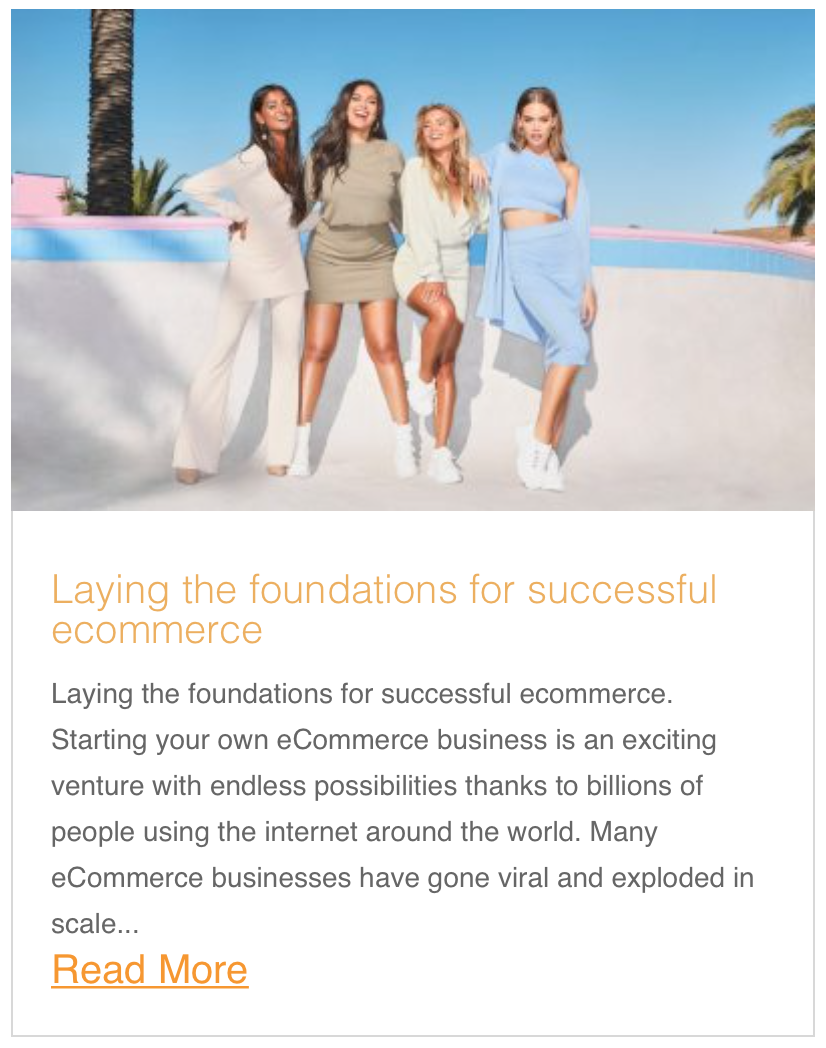 Laying the foundations for successful ecommerce
