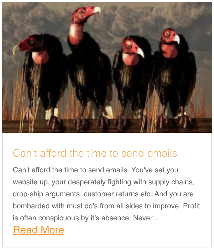 Can't afford the time to send emails
