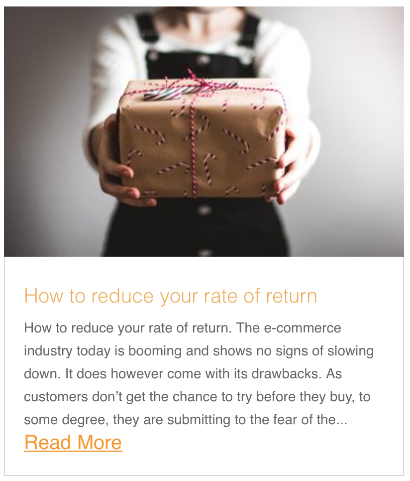 How to reduce your rate of return
