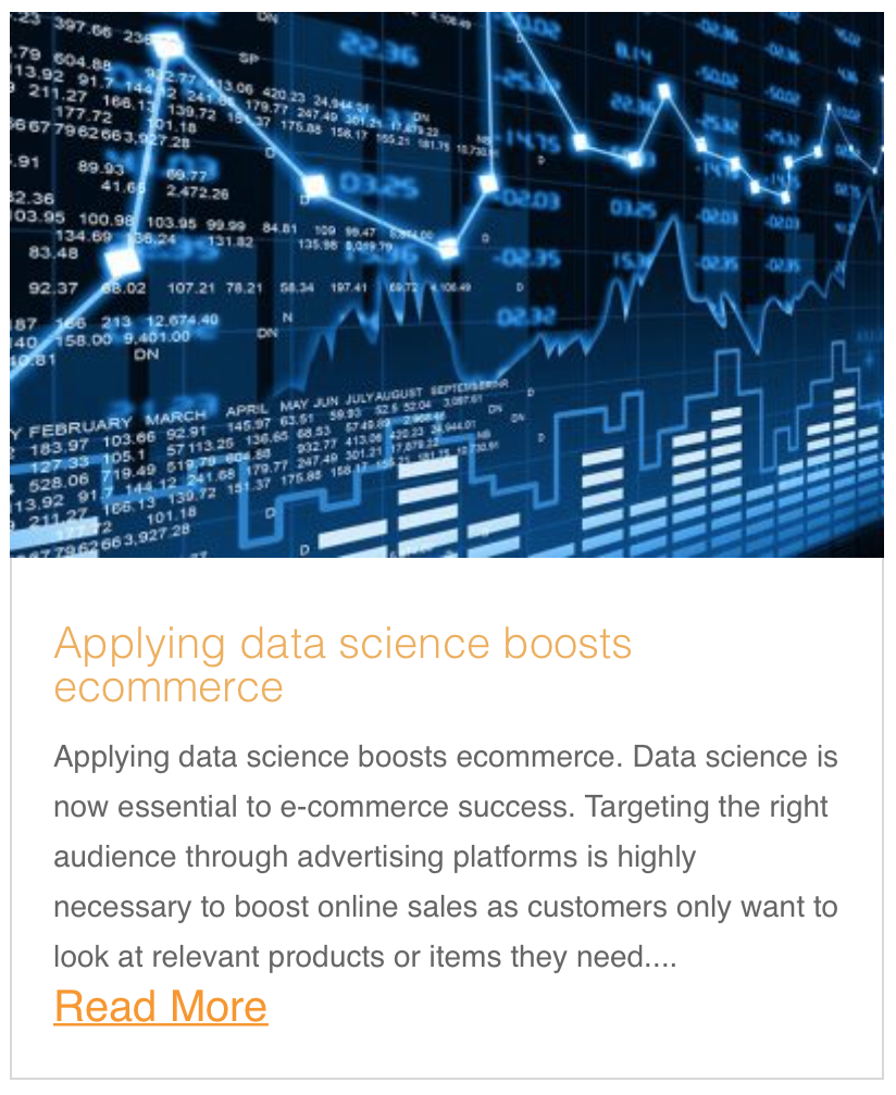 Applying data science boosts ecommerce
