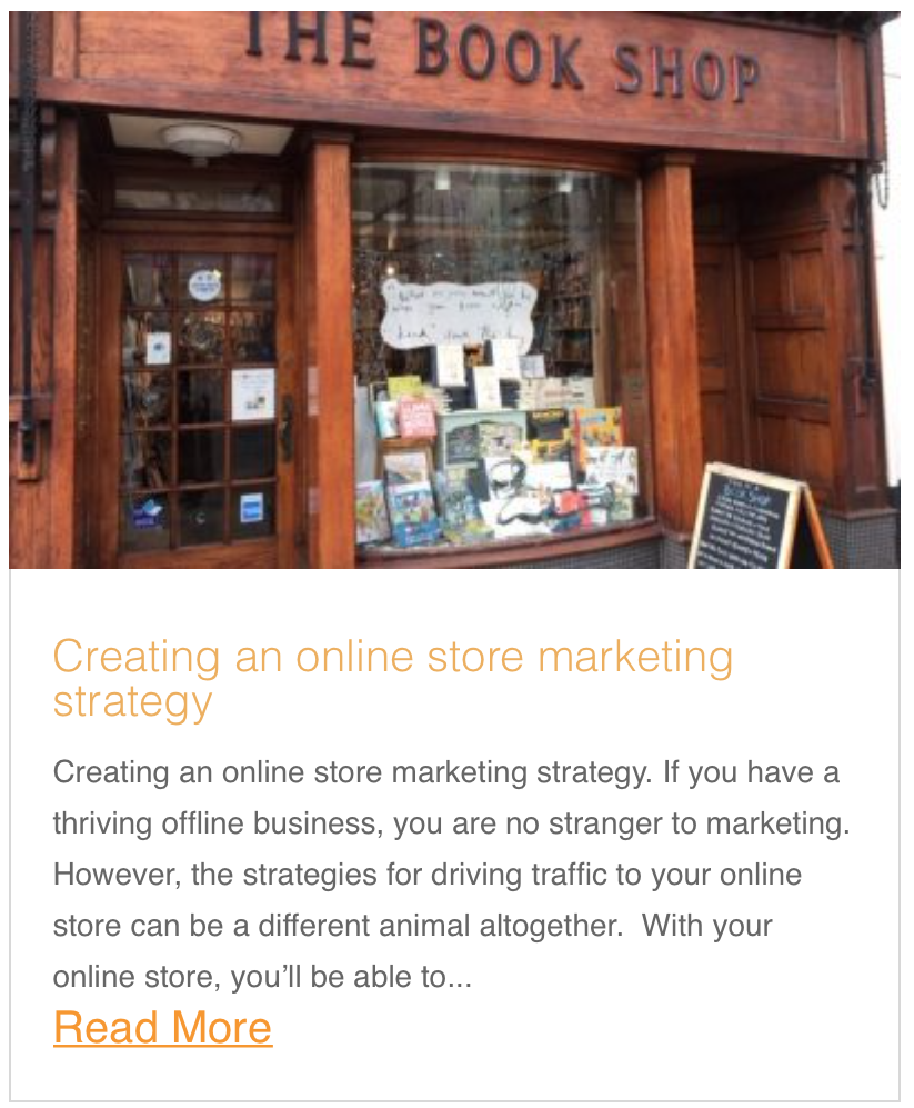 Creating an online store marketing strategy
