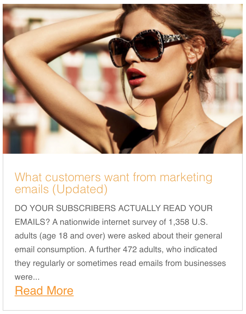 What customers want from marketing emails