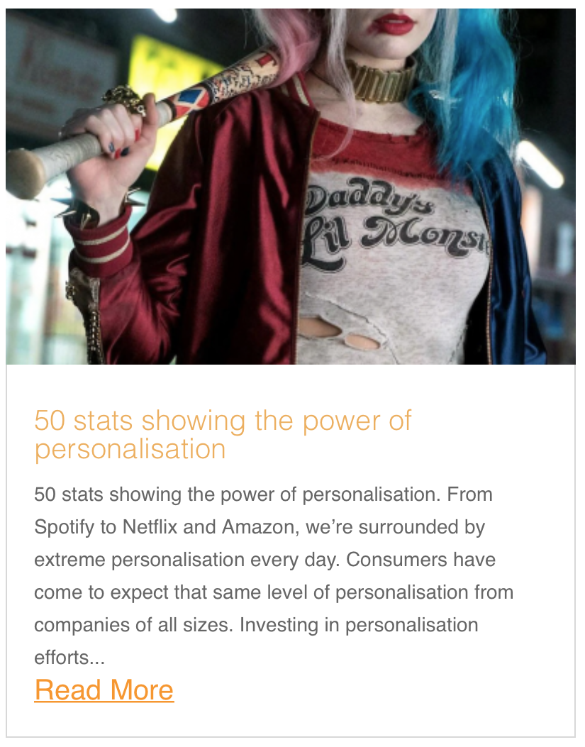 50 stats showing the power of personalisation