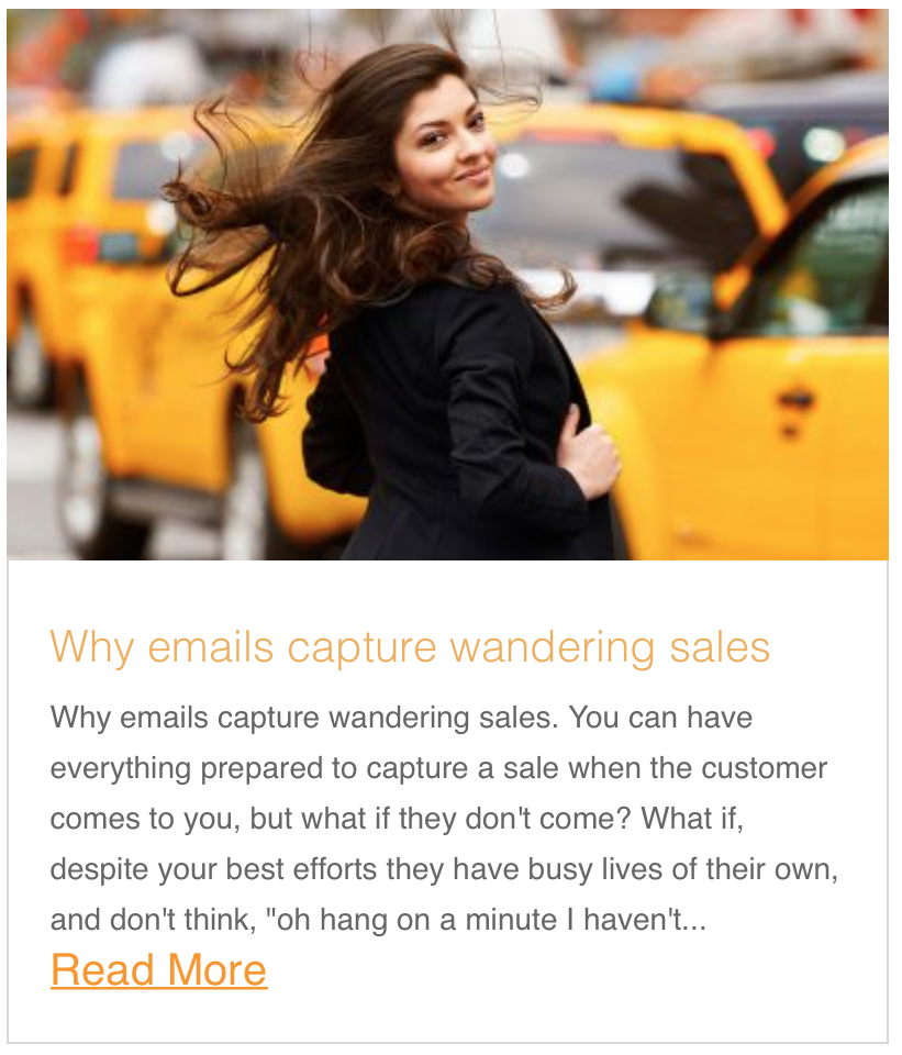 Why emails capture wandering sales