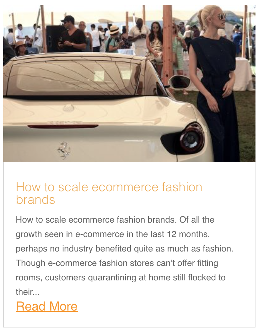 How to scale ecommerce fashion brands