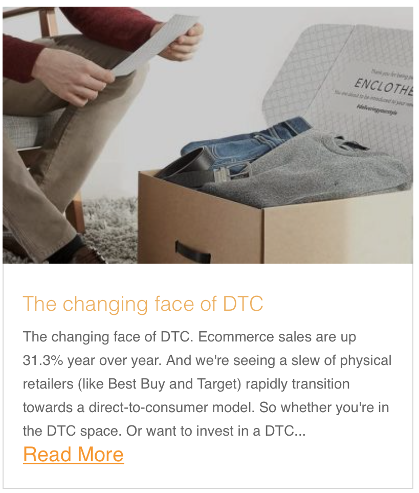 The changing face of DTC