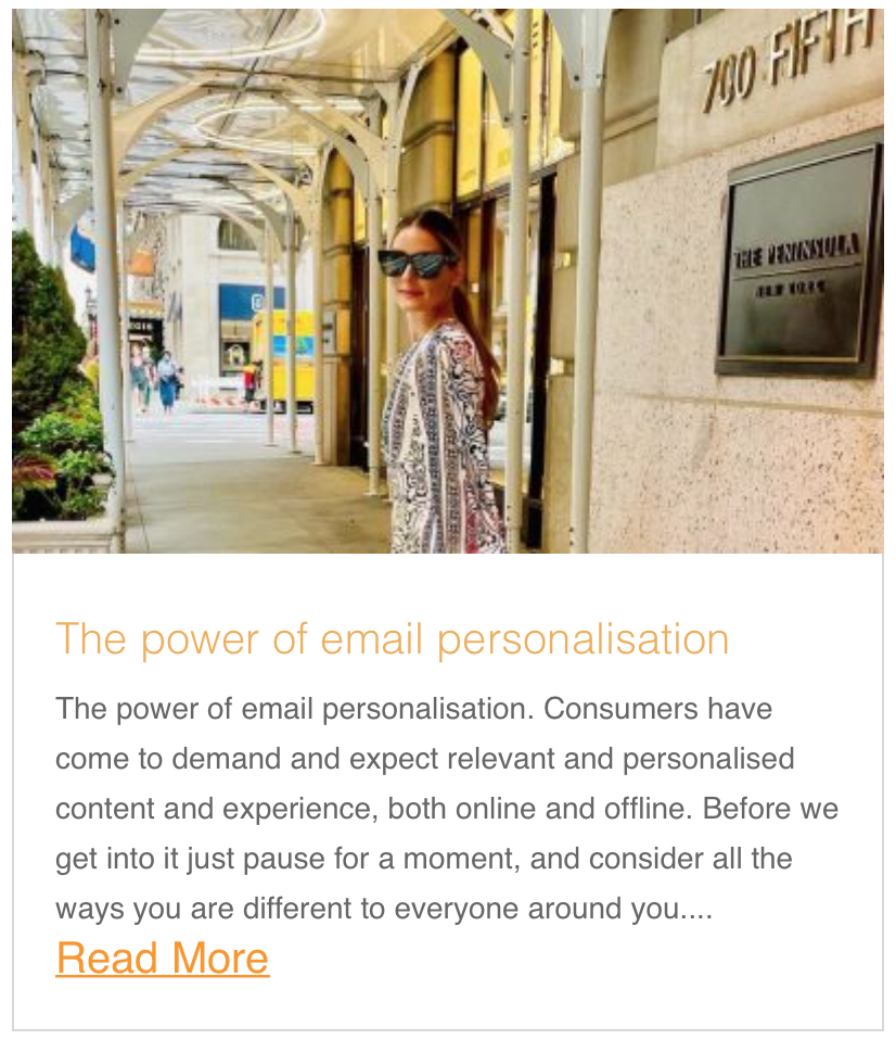 The power of email personalisation
